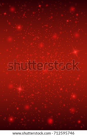Background with stars in red colors. Vector illustration