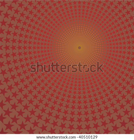Background with stars, vector illustration