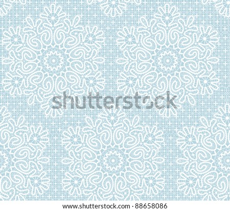 Background with  stylized  Christmas  snowflake. - stock vector