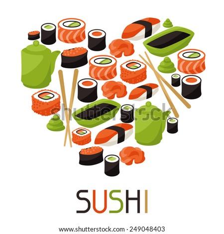 background with sushi japanese