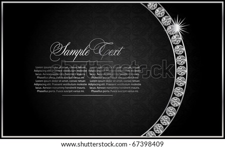 background with  the Diamond - stock vector