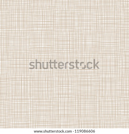 Background with threads, natural linen. Vector
