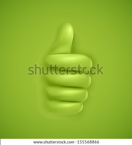 background with thumbs up