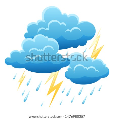 background with thunderstorm