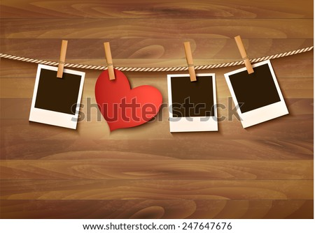 background with two hearts and
