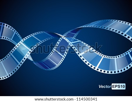 background with waving film strip