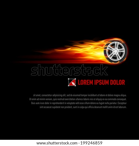 background with wheel in orange