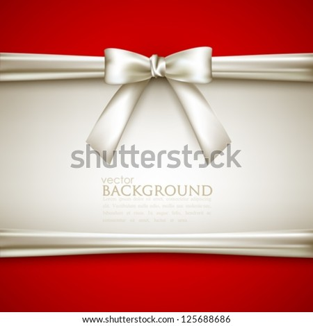 background with white bow