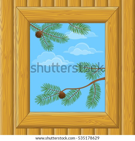background with wooden wall and