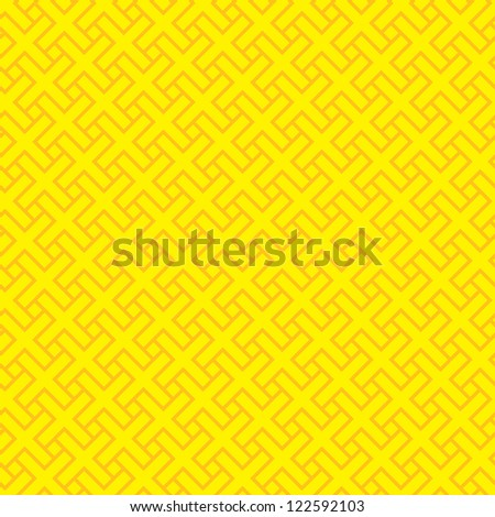 Background. Yellow & red vector seamless tiled simple pattern