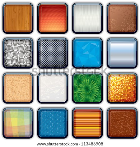 Backgrounds for apps Icons. Vector Variation