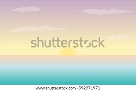 backgrounds pastel ocean sunset