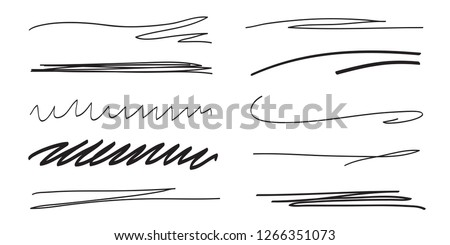 Backgrounds with array of lines. Stroke chaotic backdrops. Hand drawn patterns. Black and white illustration. Elements for posters and flyers Сток-фото ©