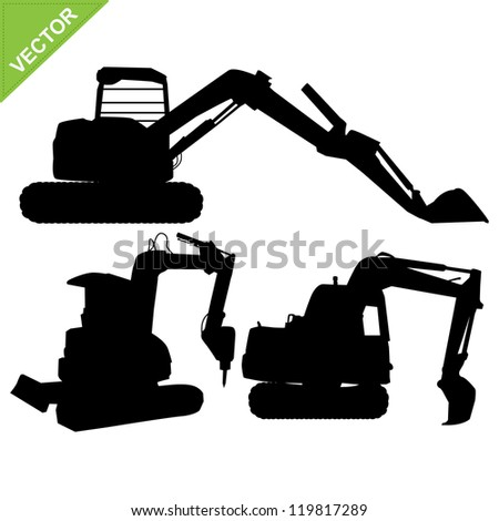 Vector Images, Illustrations and Cliparts: backhoe ...