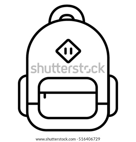 Backpack And Bag Linear Icon