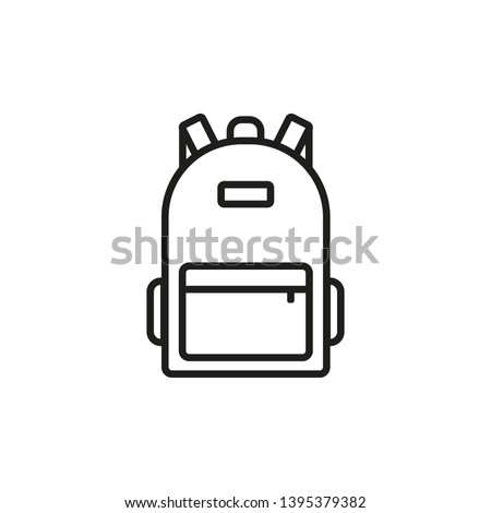 Backpack icon. Line style. Vector. Stockfoto ©