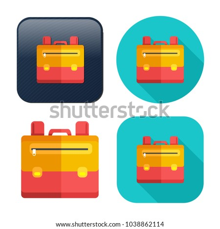 Backpack icon - vector school symbol - travel icon