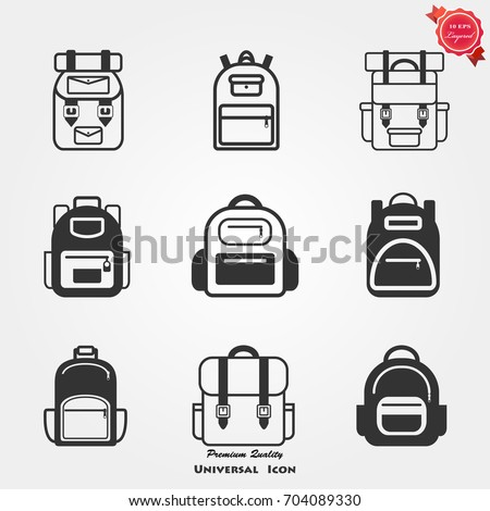 Backpack icons, Backpack icons vector, Backpack icons image, Backpack icons illustration