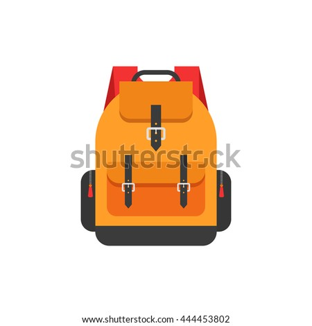 backpack isolated vector