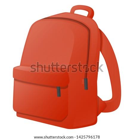 Backpack School Vector Design Art. Bag Teacher Trendy Communication Chat Elements Stockfoto ©