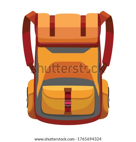 Backpack vector icon.Cartoon vector icon isolated on white background backpack. Stockfoto ©