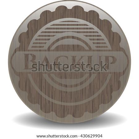 Backup wooden signboards