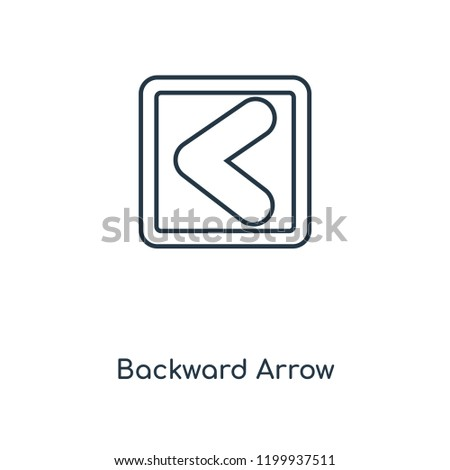 Backward Arrow concept line icon. Linear Backward Arrow concept outline symbol design. This simple element illustration can be used for web and mobile UI/UX.