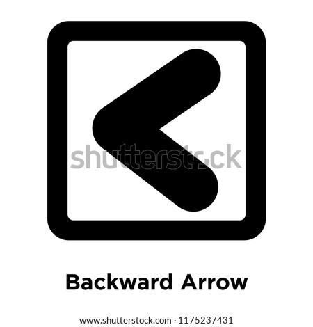Backward Arrow icon vector isolated on white background, logo concept of Backward Arrow sign on transparent background, filled black symbol