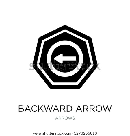 backward arrow icon vector on white background, backward arrow trendy filled icons from Arrows collection, backward arrow simple element illustration
