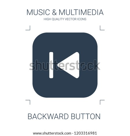 backward button icon. high quality filled backward button icon on white background. from music multimedia collection flat trendy vector backward button symbol. use for web and mobile