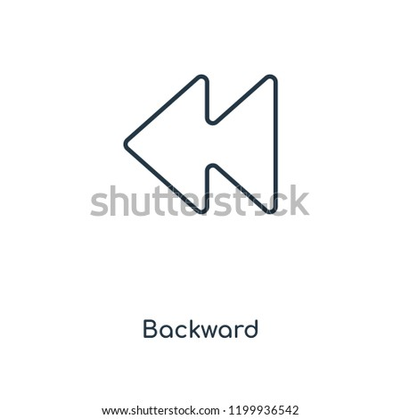 Backward concept line icon. Linear Backward concept outline symbol design. This simple element illustration can be used for web and mobile UI/UX.