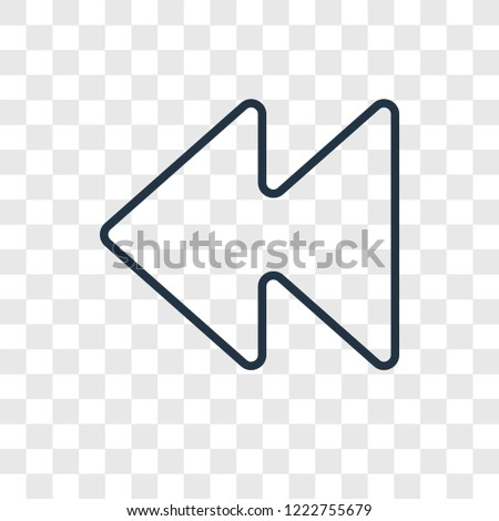 Backward concept vector linear icon isolated on transparent background, Backward concept transparency concept in outline style