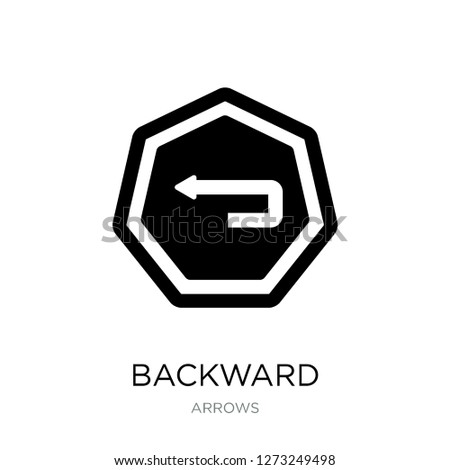 backward icon vector on white background, backward trendy filled icons from Arrows collection, backward simple element illustration