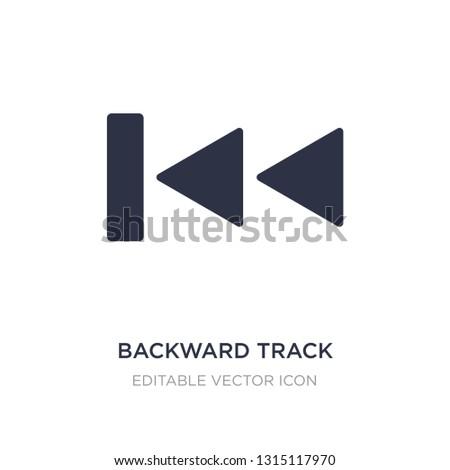 backward track icon on white background. Simple element illustration from UI concept. backward track icon symbol design.