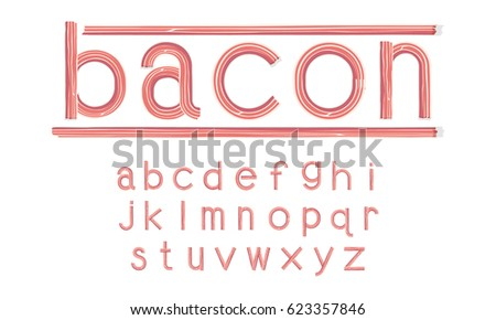 bacon font  lowercase vector