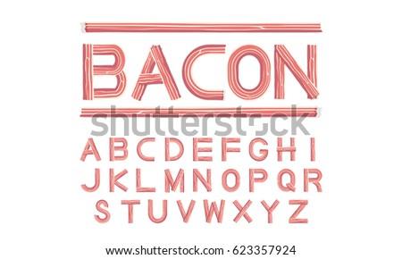 bacon font uppercase vector