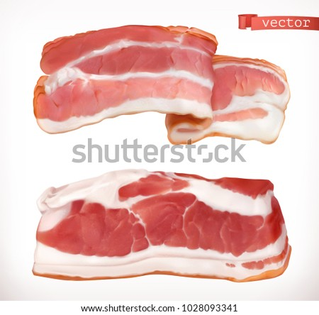 bacon fresh meat  3d realistic