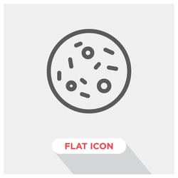 Bacteria vector icon, microbe symbol. Modern, simple flat vector illustration for web site or mobile app