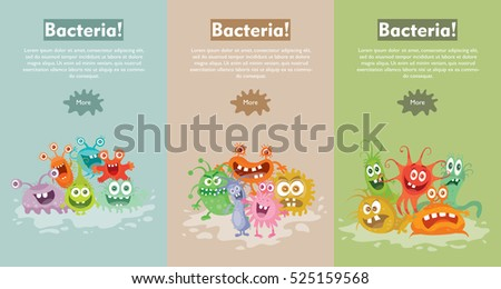 bacteria web banner group of