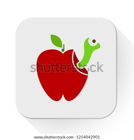 bad apple. A Grumpy Red Apple Fruit Cartoon Mascot Character. Vector apple Isolated On White Background