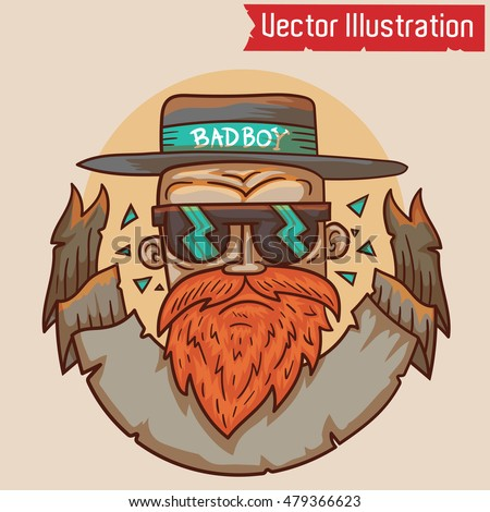 Stock Photo Bad boy - Vector illustration. EPS 10