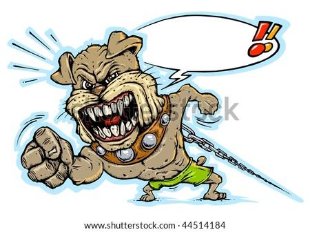 Bad Dog Mascot - Beware of Dog