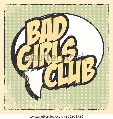 bad girl card  illustration in