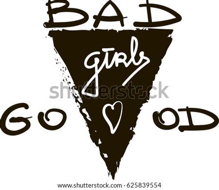 bad good girls monochrome brush