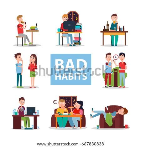 bad habits poster vector