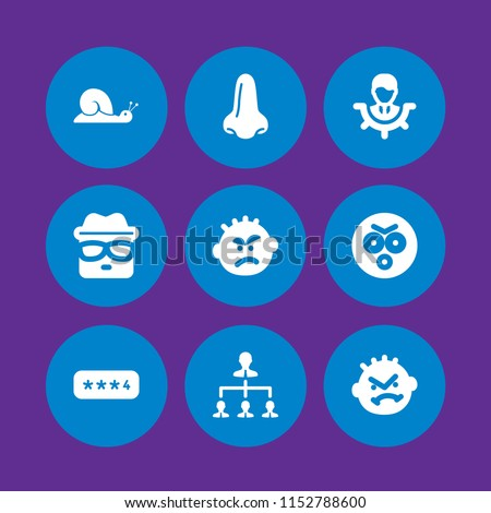 Stock Photo bad icon. 9 bad set with password, slow, heisenberg and smell vector icons for web and mobile app