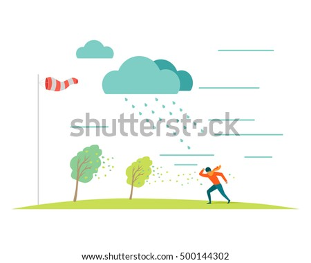 bad or stormy weather vector
