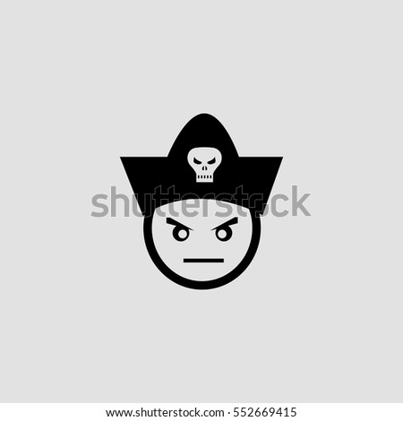 bad pirate face icon
