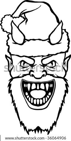 Bad santa stock vector illustration 36064906 shutterstock