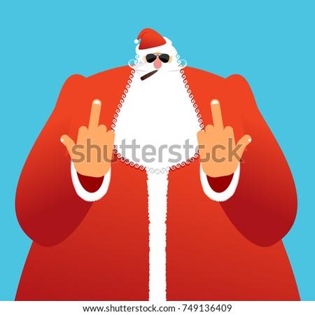 bad santa shows to fuck angry